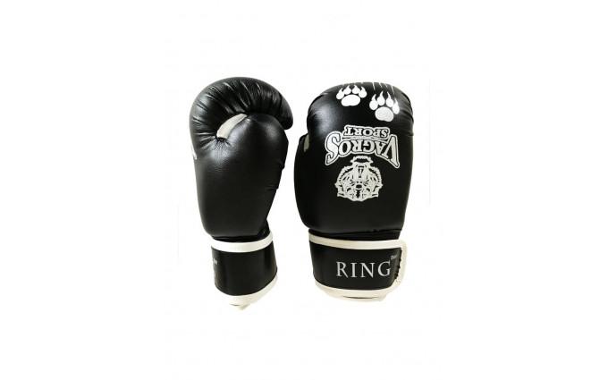 Перчатки боксерские VagroSport RING RS508, 8 унций, черный