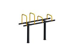 Скамья с упорами Воркаут Kampfer Bench Trest Workout 4-0 (Черно-желтый)