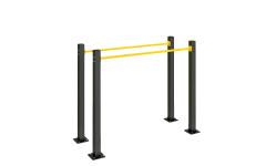 Брусья Воркаут Kampfer Single-level Bars Workout 3-6 (Черно-желтый)