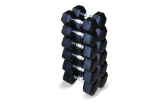 Набор гексагональных гантелей 6 пар от 12,5 до 25 кг